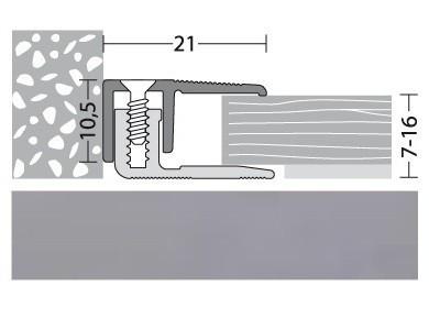 Abschlußprofil Aluminium Edelstahl 90 cm
